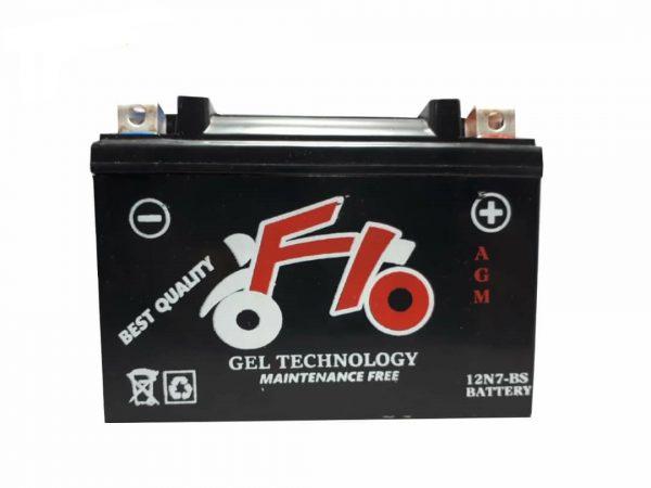 باتری موتور سیکلت 7 آمپر F10 پایه کوتاه